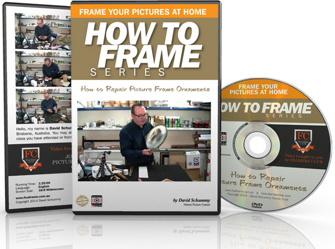 How to repair frame ornaments